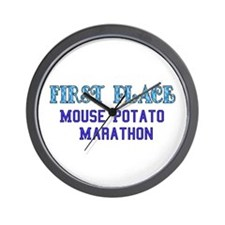 Mouse Potato Marathon Wall Clock
