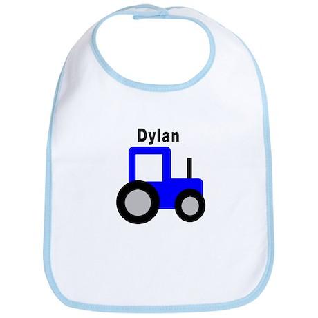 Dylan - Blue Tractor Bib