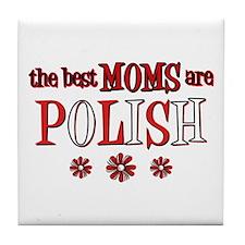 Polish Moms Tile Coaster