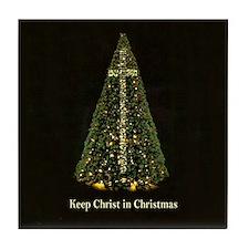 KEEP CHRIST IN CHRISTMAS - Tile Coaster
