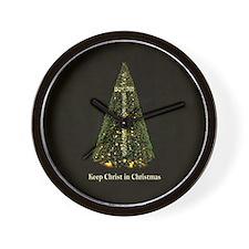 KEEP CHRIST IN CHRISTMAS - Wall Clock