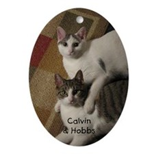 Calvin and Hobbs Oval Ornament
