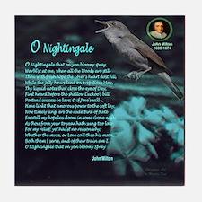 O Nightingale Tile Coaster