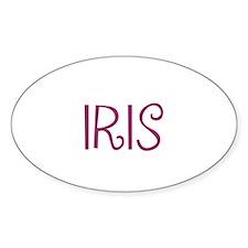 Iris Oval Decal