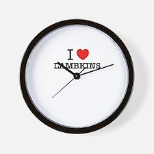 I Love LAMBKINS Wall Clock