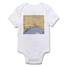 French Quarter Map Infant Bodysuit