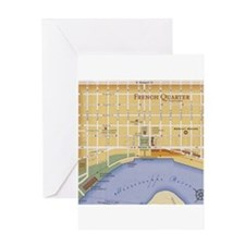 French Quarter Map Greeting Card