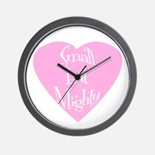 Small but Mighty (heart) Wall Clock