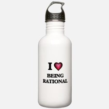I Love Being Rational Water Bottle