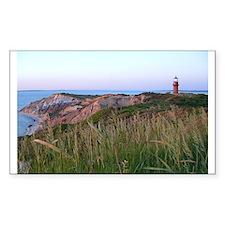 Lighthouse Sunset Rectangle Decal