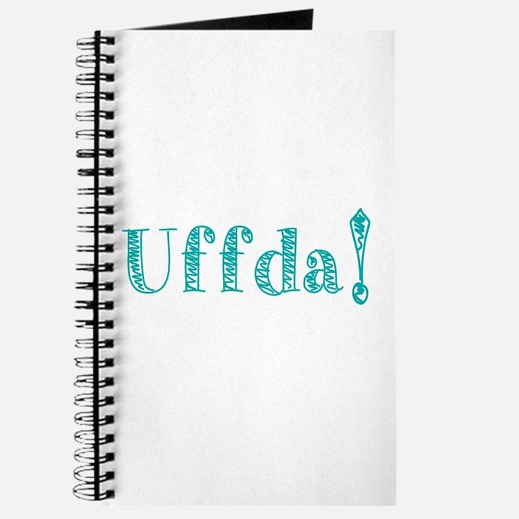 Uffda Turquoise Text Journal