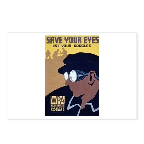 Use Goggles Postcards (Package of 8)