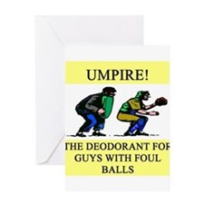 umpire t-shirts presents Greeting Card