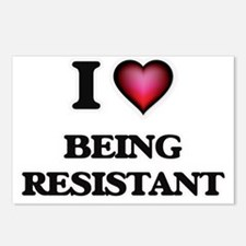 I Love Being Resistant Postcards (Package of 8)
