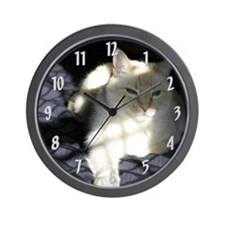 Flame Point Cat Wall Clock