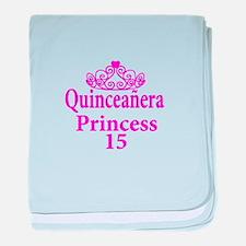 15th Birthday Quinceanera Princess La baby blanket