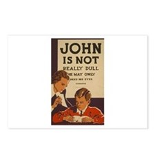 John Is Not Dull Postcards (Package of 8)
