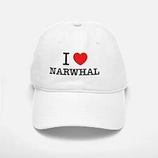 I Love NARWHAL Baseball Baseball Cap