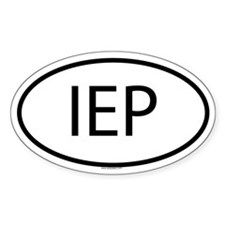 IEP Oval Stickers
