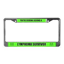 Lymphoma Survivor License Plate Frame