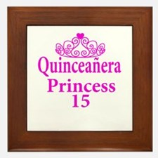 15th Birthday Quinceanera Princess Lad Framed Tile
