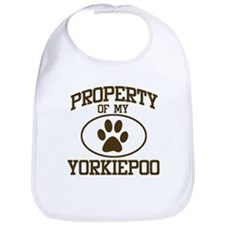 Property of My Yorkiepoo Bib