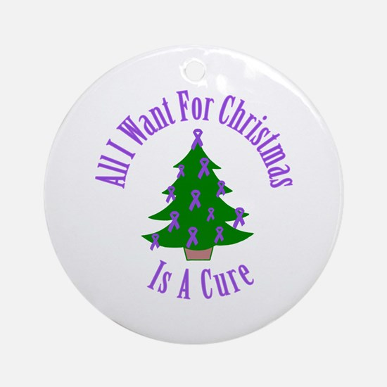 All I Want For Christmas Is A Cure (Purple Ribbon)