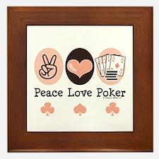 Peace Love Poker Framed Tile