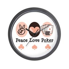 Peace Love Poker Wall Clock