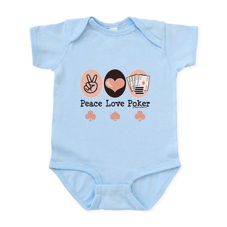 Peace Love Poker Infant Bodysuit