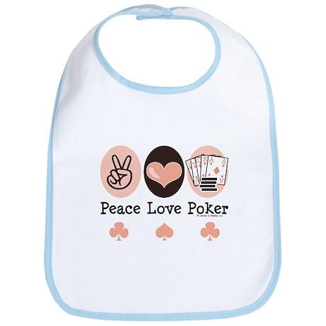 Peace Love Poker Bib