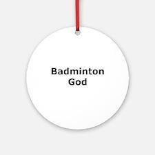 Badminton God Ornament (Round)