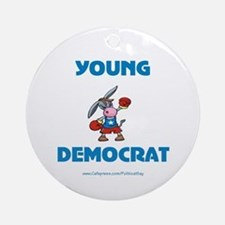 Young Democrat Ornament (Round)