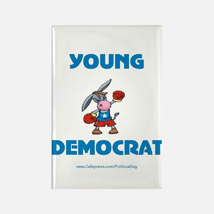 Young Democrat Rectangle Magnet