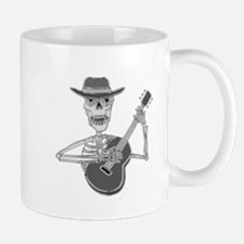 Skeleton Playing Guitar Mugs