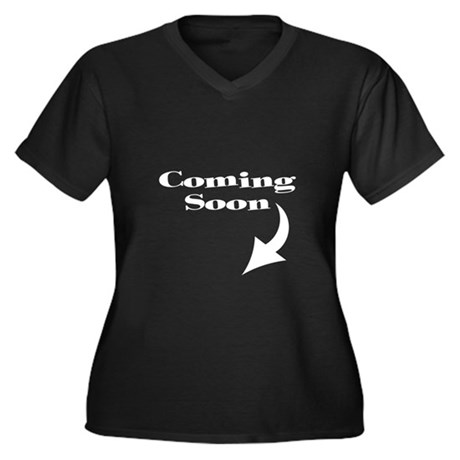 COMING SOON Women's Plus Size V-Neck Dark T-Shirt