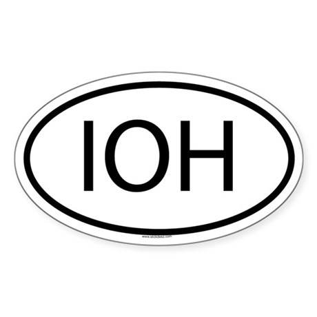 IOH Oval Sticker