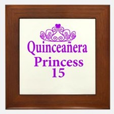 Cute Quinceanera Framed Tile