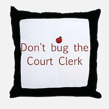 Court Clerk Throw Pillow