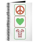 Peace Love Candy Canes Journal
