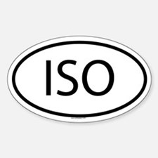 ISO Oval Decal