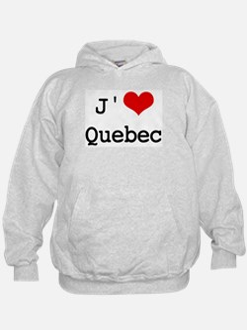 J' [heart] Quebec Hoodie