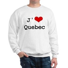 J' [heart] Quebec Sweatshirt