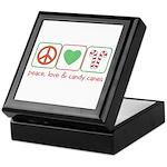 Peace Love Candy Canes Keepsake Box