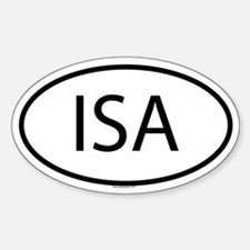 ISA Oval Decal