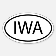 IWA Oval Decal