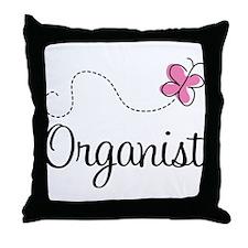 Cute Organist Throw Pillow