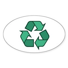 Recycle Symbol Oval Decal
