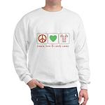 Peace Love Candy Canes Sweatshirt