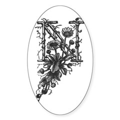 Letter N Oval Decal